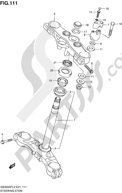 Suzuki GSX650F 2012 111 - STEERING STEM (GSX650FL2 E21)