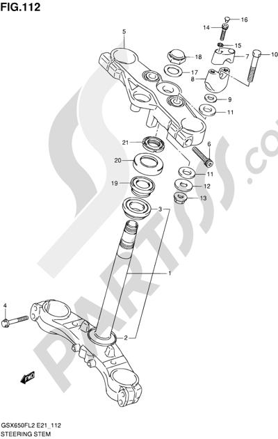 Suzuki GSX650F 2012 112 - STEERING STEM (GSX650FL2 E24)