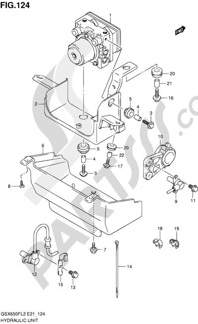 Suzuki GSX650F 2012 124 - HYDRAULIC UNIT (GSX650FUAL2 E21)