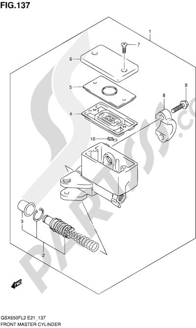Suzuki GSX650F 2012 137 - FRONT MASTER CYLINDER