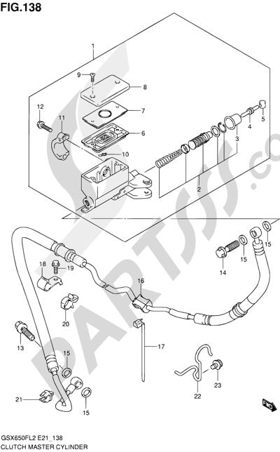 Suzuki GSX650F 2012 138 - CLUTCH MASTER CYLINDER