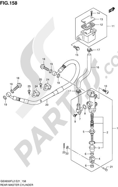 Suzuki GSX650F 2012 158 - REAR MASTER CYLINDER (GSX650FL2 E21)