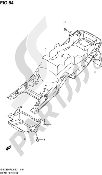 Suzuki GSX650F 2012 84 - REAR FENDER (GSX650FL2 E24)