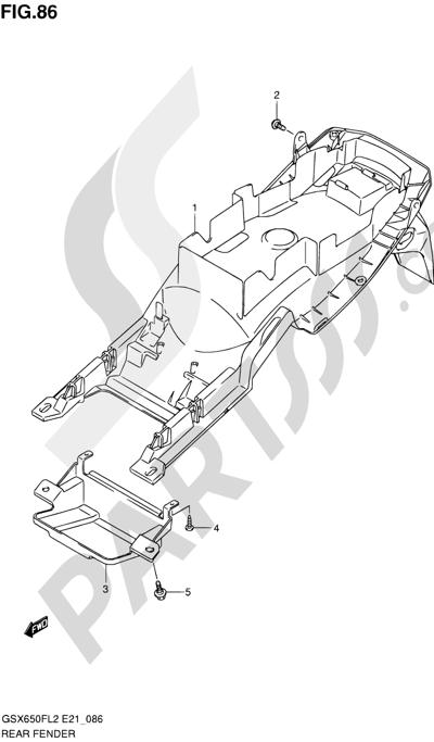 Suzuki GSX650F 2012 86 - REAR FENDER (GSX650FUL2 E24)