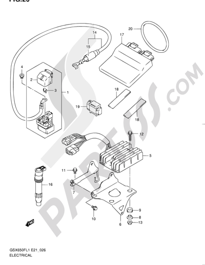 Suzuki Gsx650fa 2011 Dissassembly Sheet Purchase Genuine Spare