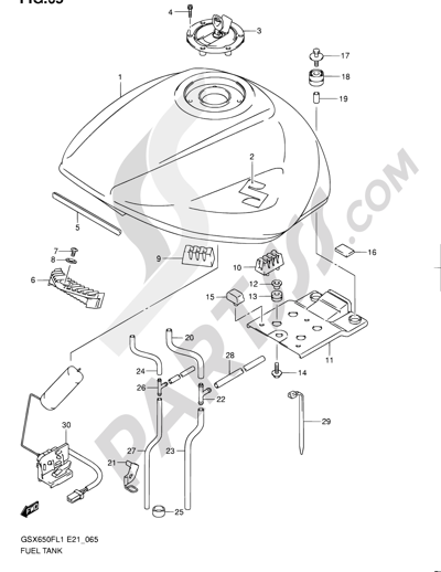 Suzuki Gsx650fa 2011 Dissassembly Sheet Purchase Genuine Spare