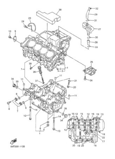 Yamaha Yzf R6 2002 Dissassembly Sheet Purchase Genuine