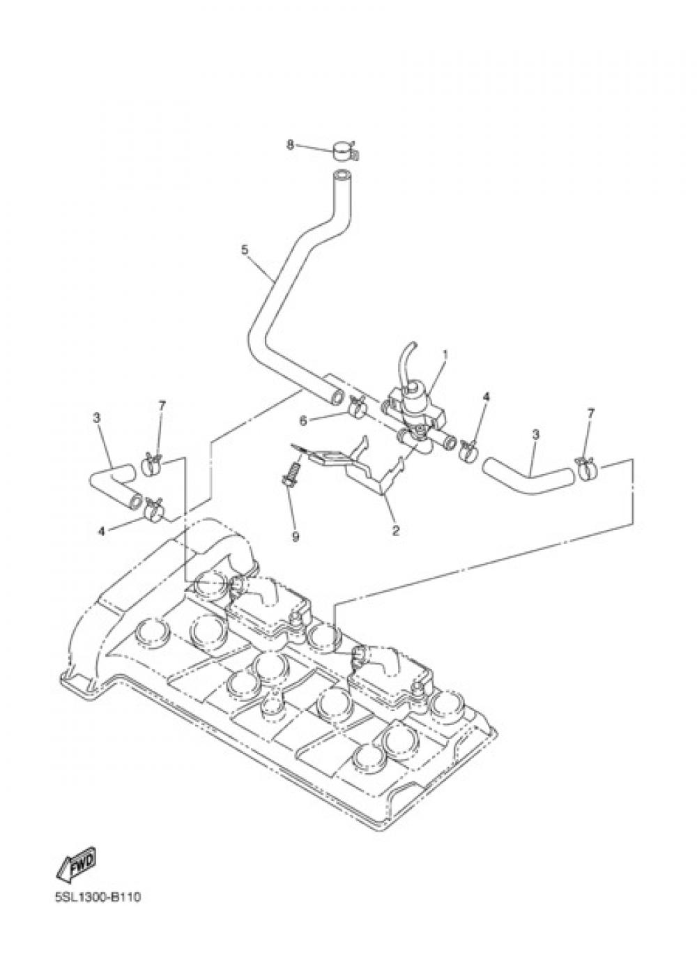 AIR INDUCTION SYSTEM Yamaha YZF-R6 2003
