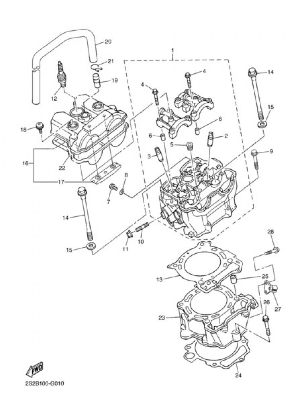 CYLINDER Yamaha YZ450F 2008