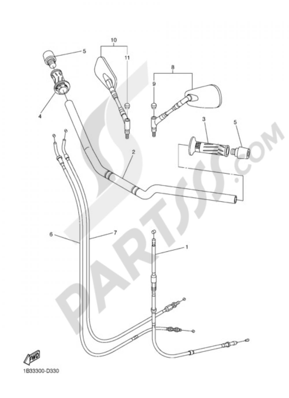 HANDELBAR AND CABLES Yamaha FZ6 S2 ABS 2009