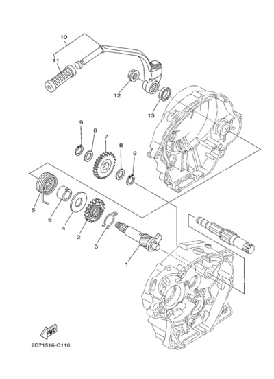 Yamaha YBR125 2005 Dissassembly sheet  Purchase genuine spare parts
