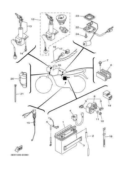 Yamaha Ybr125 2005 Dissassembly Sheet Purchase Genuine Spare Parts