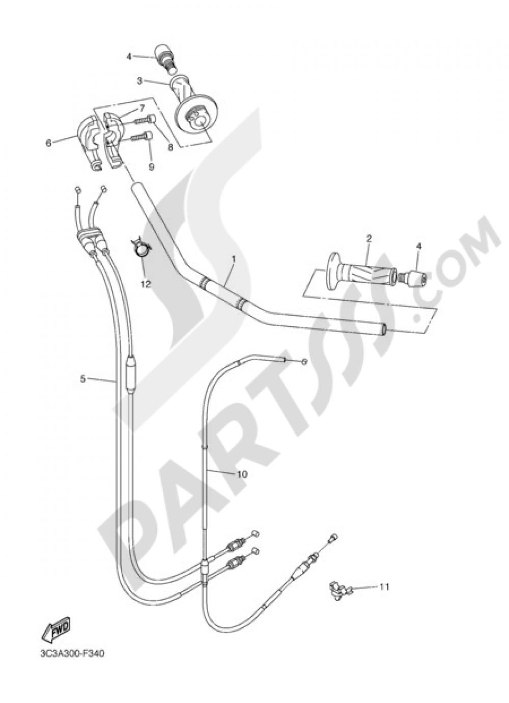 HANDELBAR AND CABLES Yamaha FZ1 Fazer ABS 2009