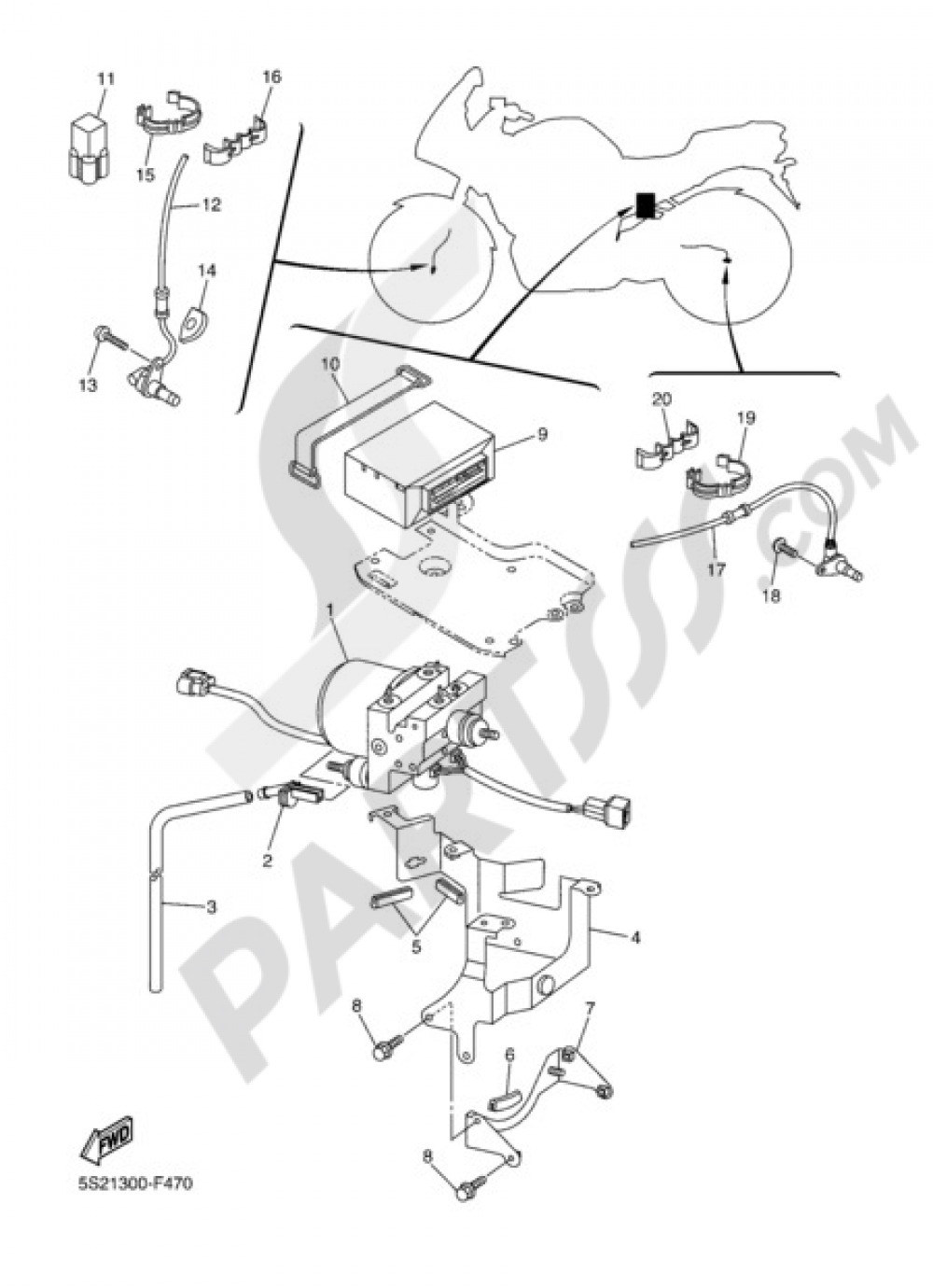 ELECTRIC EQUIPMENT 3 Yamaha FZ6 Fazer S2 ABS 2008
