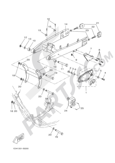 Yamaha Dt50r 2005 Dissassembly Sheet Purchase Genuine Spare Parts