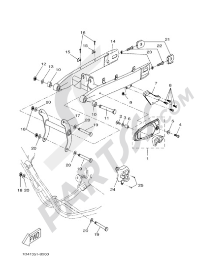Yamaha Dt50r 2007 Dissassembly Sheet Purchase Genuine Spare Parts