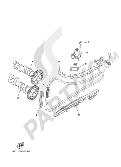 Yamaha T-Max 2005 CAMSHAFT & CHAIN