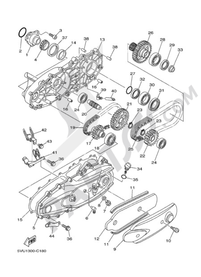 Yamaha T-Max 2005 SECONDARY TRANSMISSION