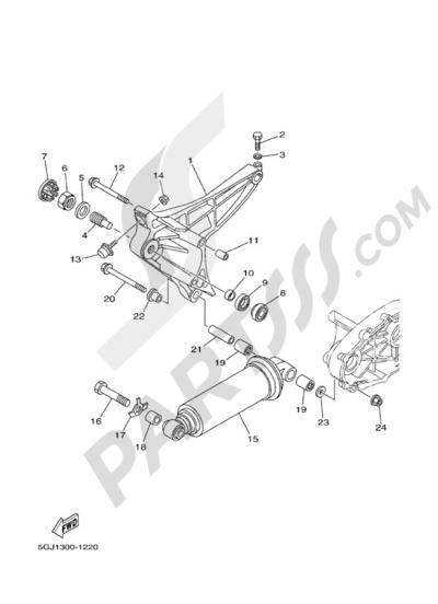 Yamaha T-Max 2005 REAR ARM & SUSPENSION