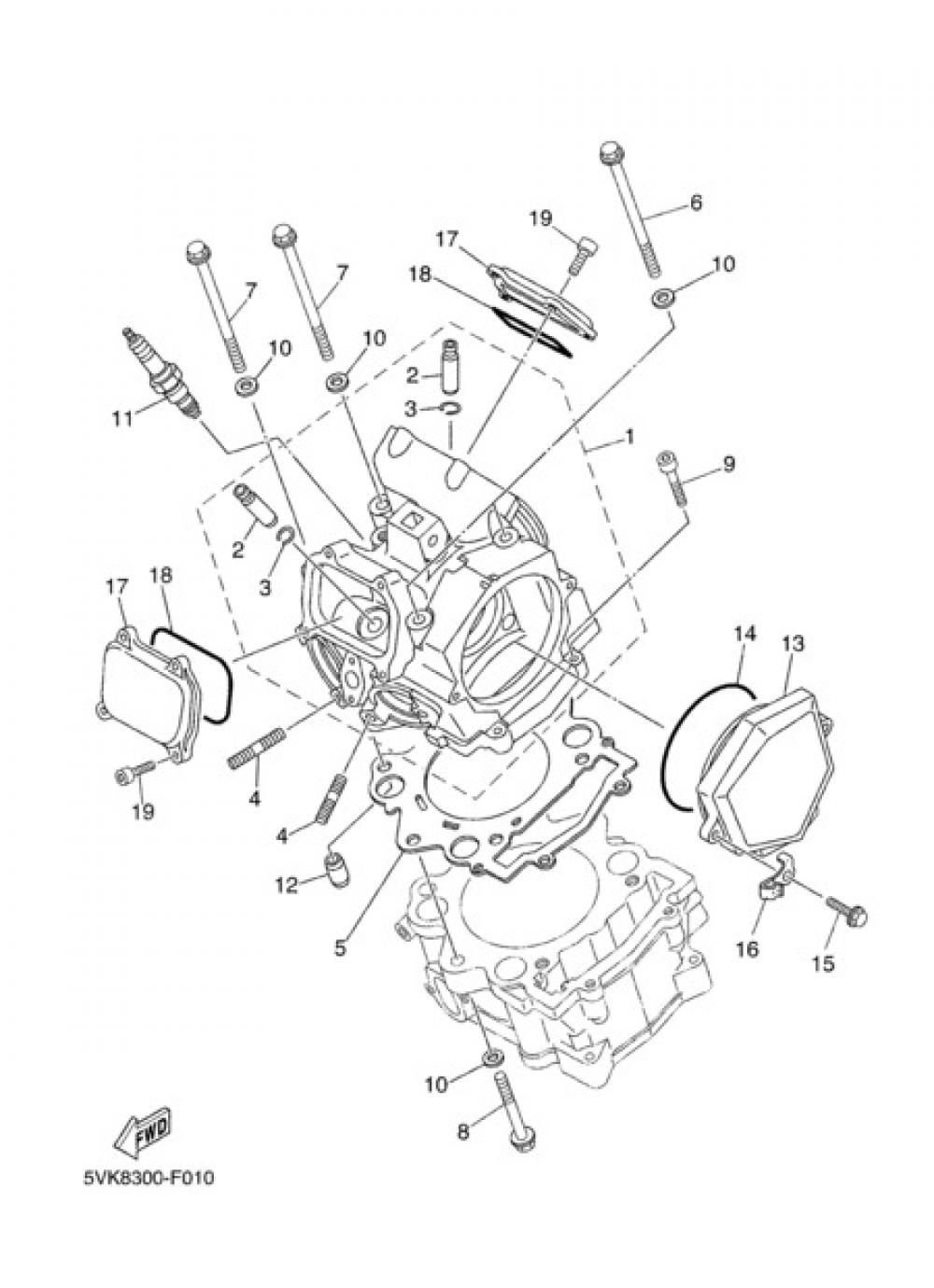 CYLINDER HEAD Yamaha XT660X 2008