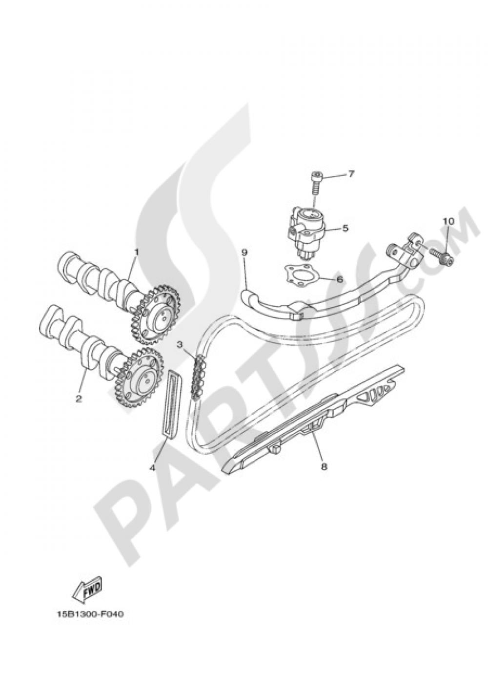 CAMSHAFT & CHAIN Yamaha T-Max 2009