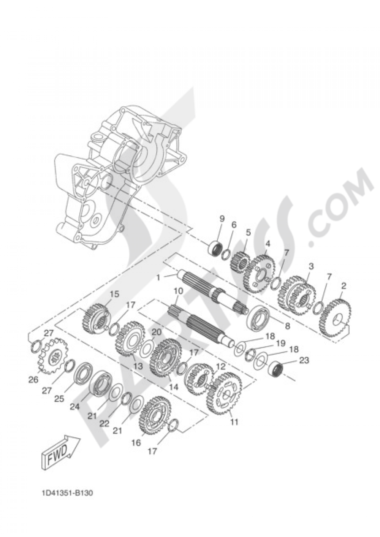 TRANSMISSION Yamaha DT50X 2005