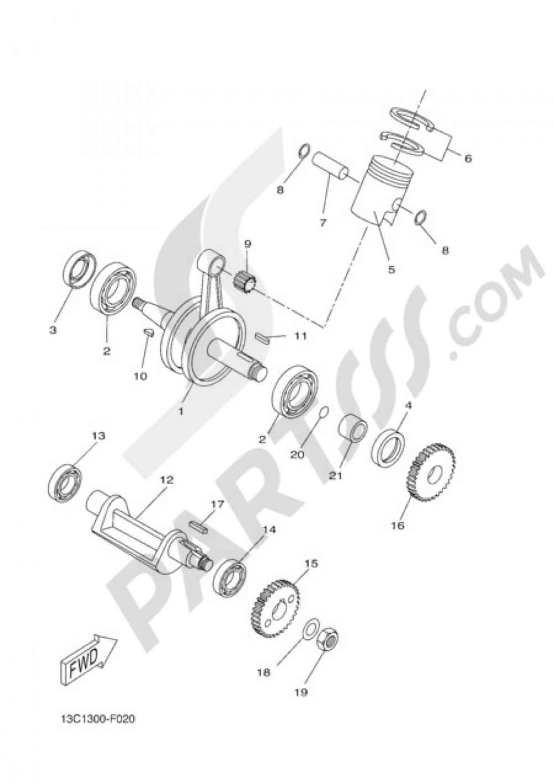 CRANKSHAFT & PISTON Yamaha DT50X 2010