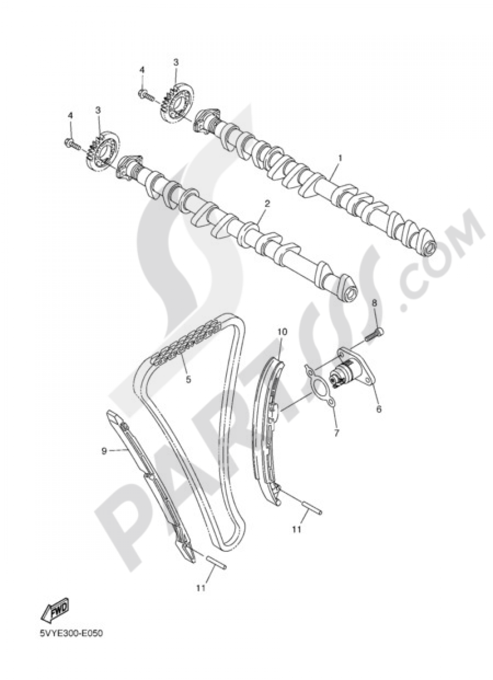 CAMSHAFT & CHAIN Yamaha FZ1 Fazer ABS 2011