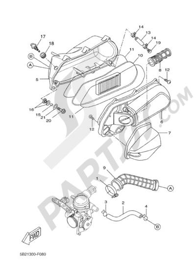 Yamaha X-City 250 2011 INTAKE