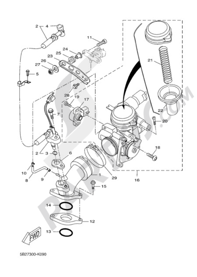 Yamaha X-City 250 2011 INTAKE 2