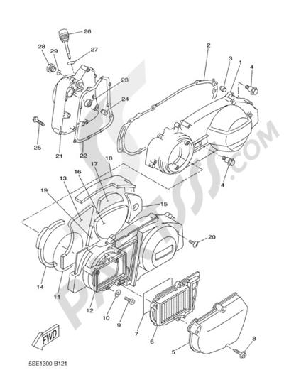 Yamaha X-City 250 2011 CRANKCASE COVER 1