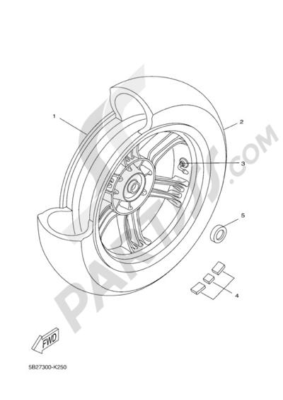 Yamaha X-City 250 2011 REAR WHEEL