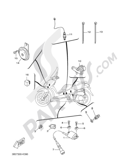 Yamaha X-City 250 2011 ELECTRIC EQUIPMENT 2