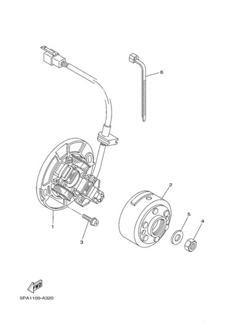 GENERATOR Yamaha YZ85 2011