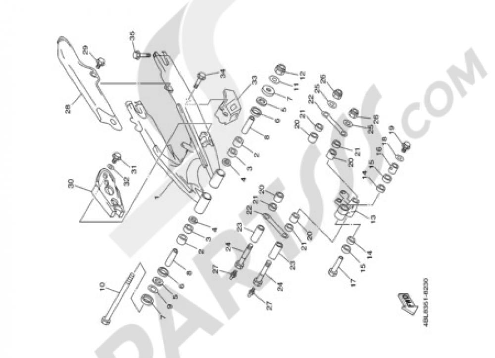 REAR ARM Yamaha DT125R 2002