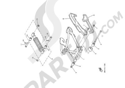 Yamaha PW80 2000 REAR ARM SUSPENSION