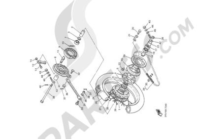 Yamaha PW80 2000 REAR WHEEL