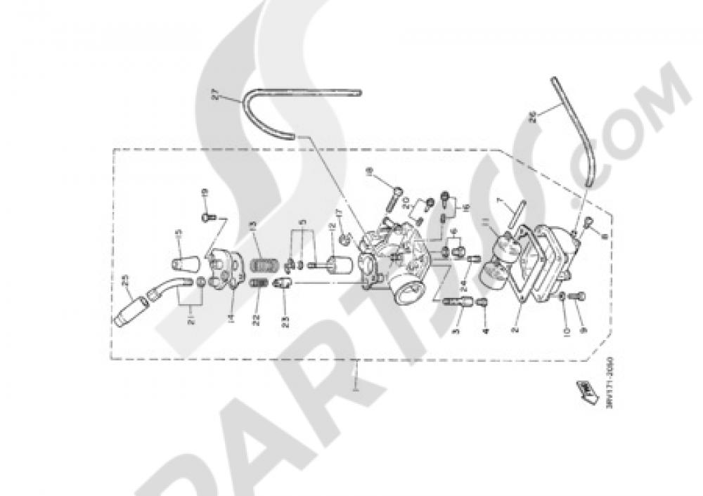 CARBURETOR Yamaha PW80 2000