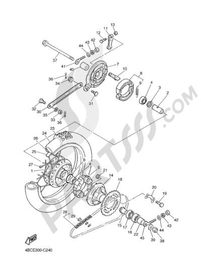 Yamaha Pw80 2004 Dissassembly Sheet Purchase Genuine Spare Parts Online
