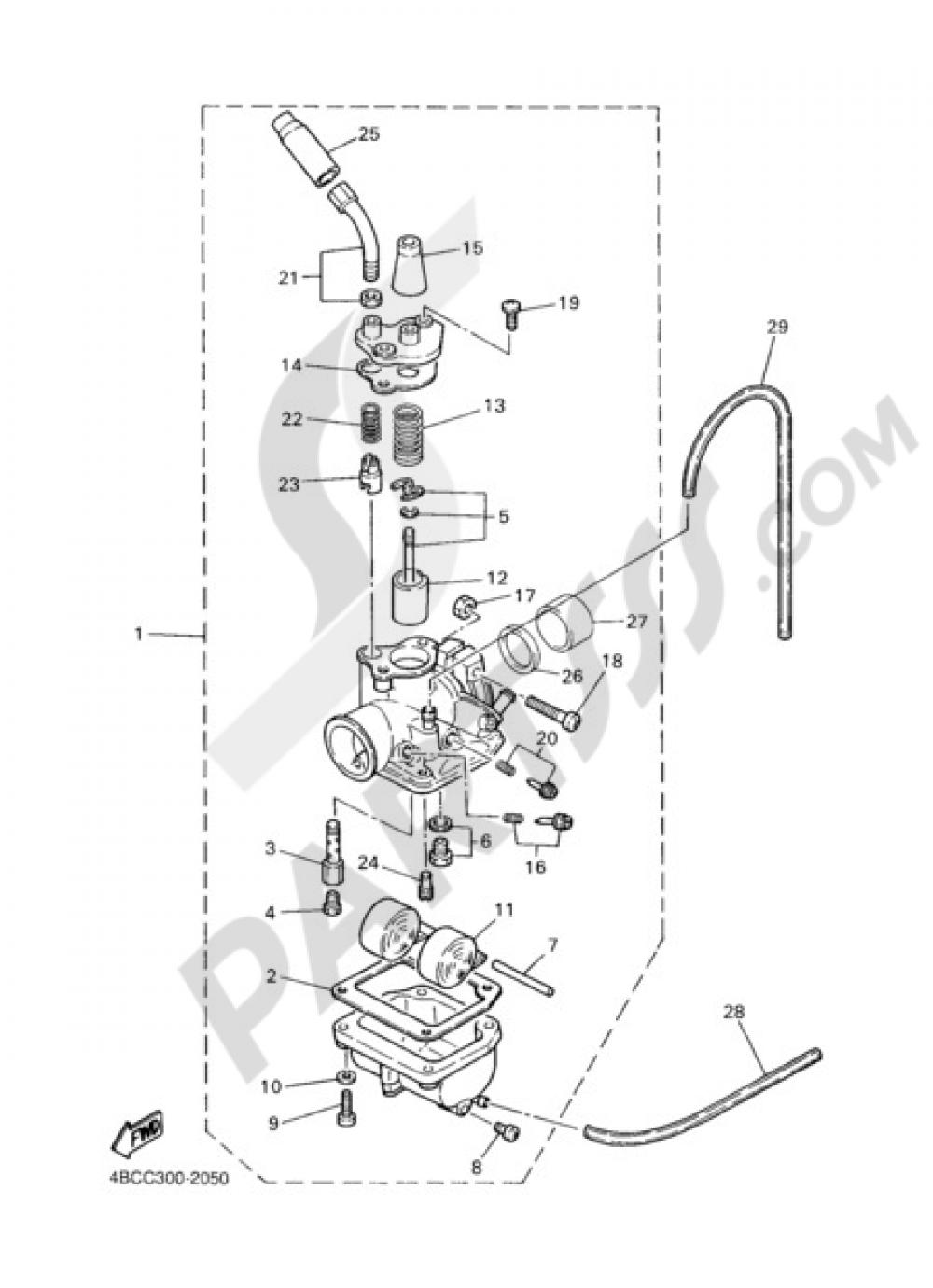 33 Yamaha Pw80 Carburetor Diagram