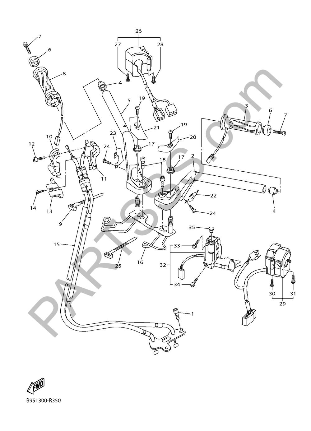 MANILLAR & CABLE Yamaha FJR1300AS 2018