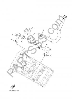 Yamaha MT-09 Tracer 2017 SYSTEMA DE INDUCCION DE AIRE