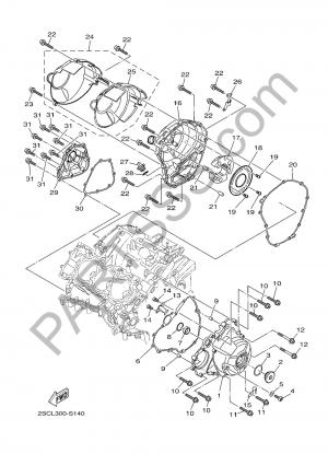Yamaha MT-09 Tracer 2017 CUBIERTA DE CARTER 1