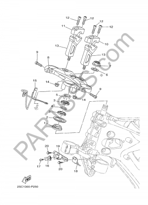 Yamaha MT-09 Tracer 2017 DIRECCION