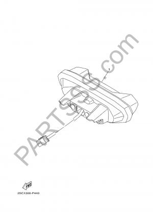 Yamaha MT-09 Tracer 2017 LUZ DE COLA