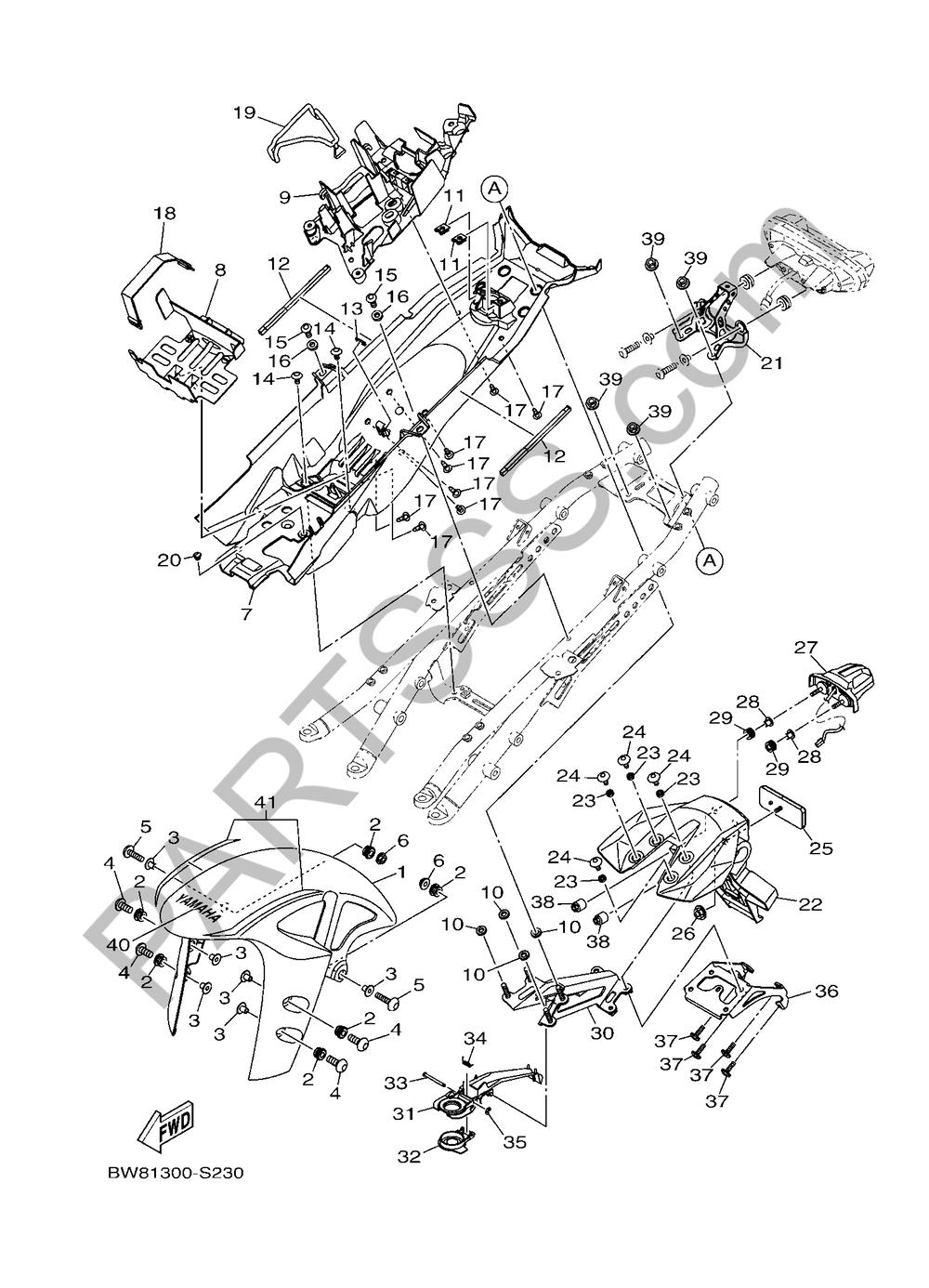 GUARDABARRO Yamaha MT-10 SP 2017
