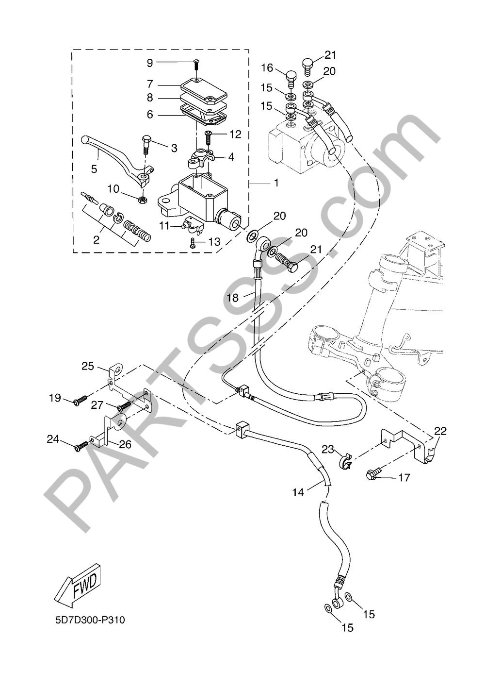 CILINDRO MAESTRO DELANTERO Yamaha MT-125 ABS 2018