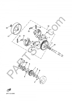 Yamaha PW50 2016 Dissassembly sheet  Purchase genuine spare