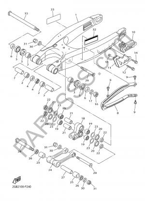 Yamaha WR250F 2017 REAR ARM