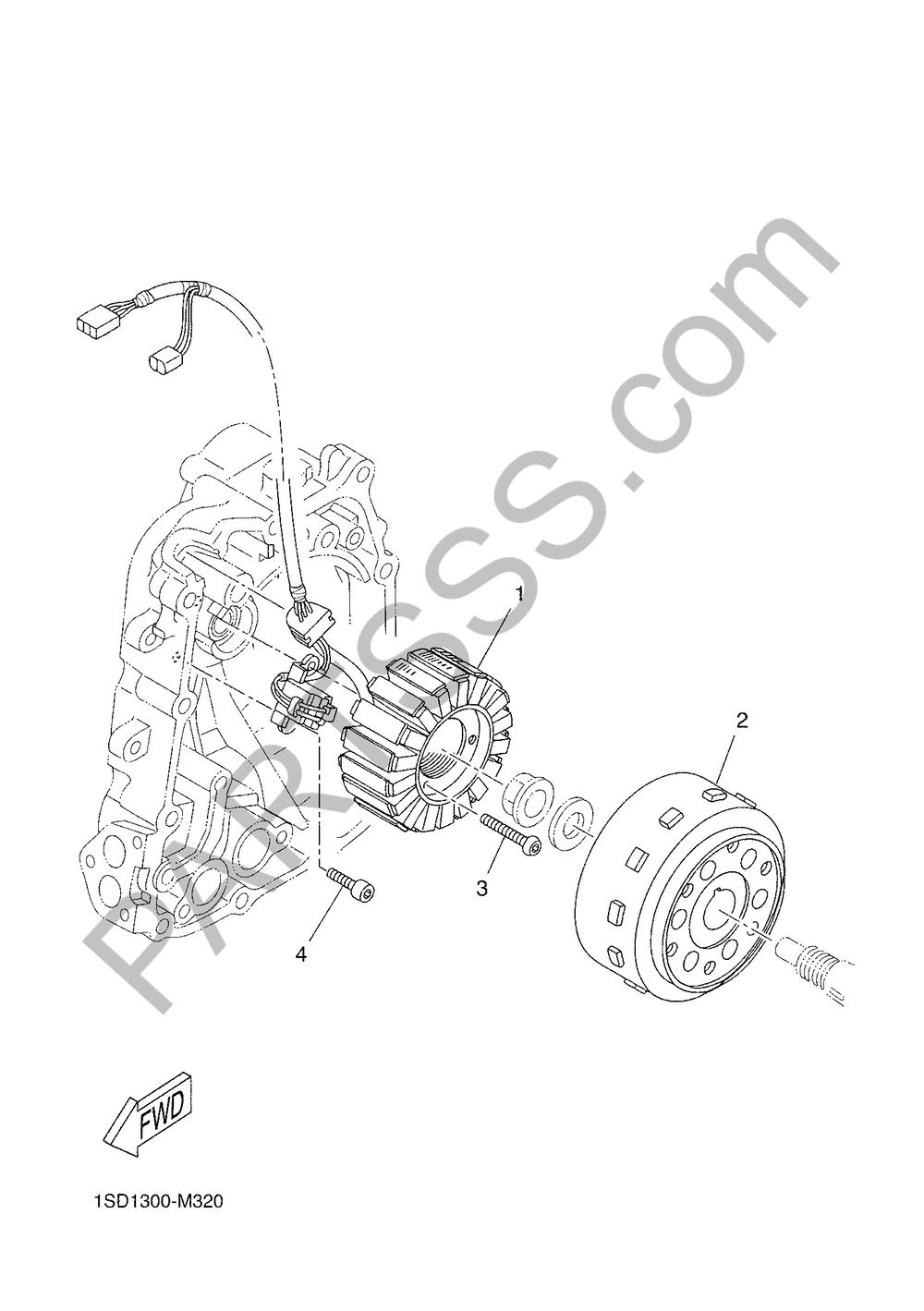 GENERADOR Yamaha X-Max 400 ABS 2018